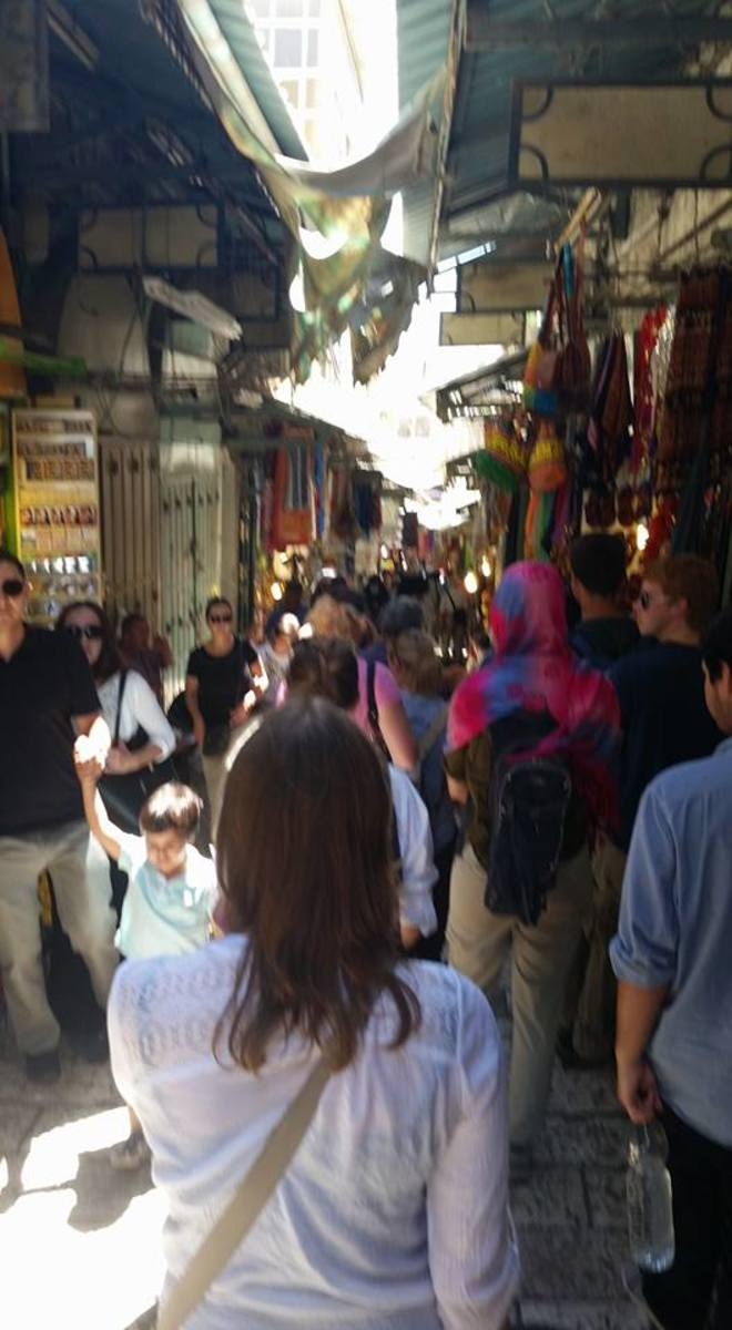 Old Jerusalem is essentially a giant shopping center separated into four quarters: the Armenian, Christian, Jewish, and Muslim quarters.