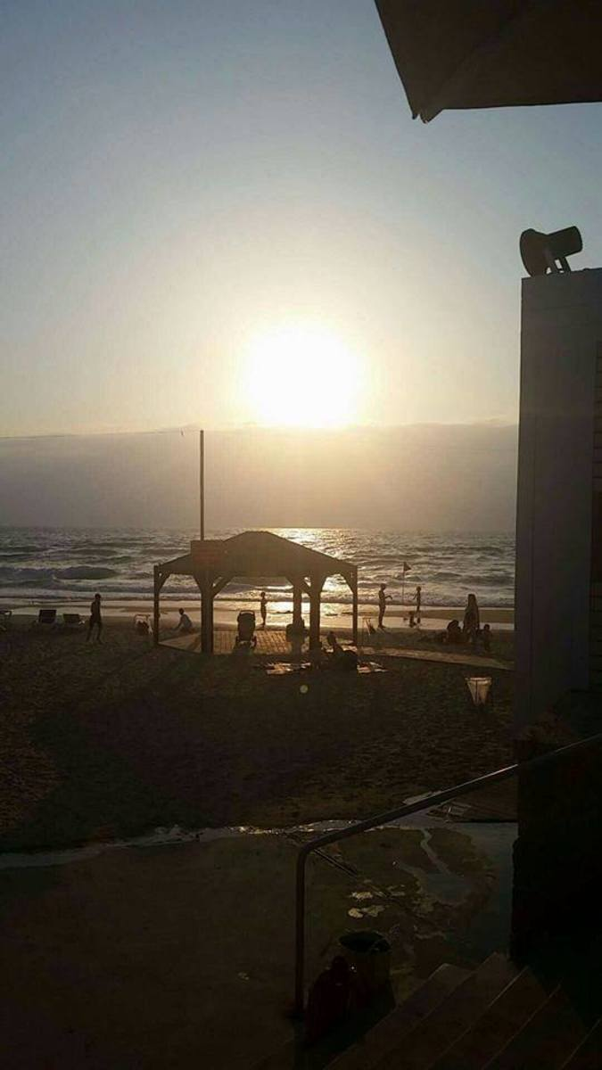 This is Tel Aviv, a city on the coast of the Mediterranean Sea in Israel.  Despite this being the location I got stung at, I would still recommend going and enjoying the beach.