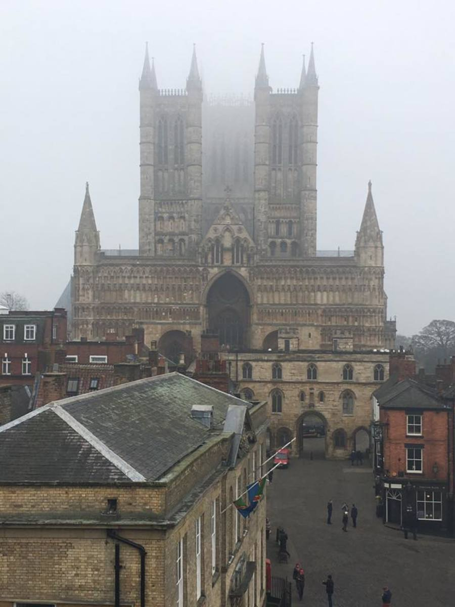 I visited the Lincoln Cathedral in Lincoln on a rather foggy day.  This is one site that I would recommend seeing while in England.