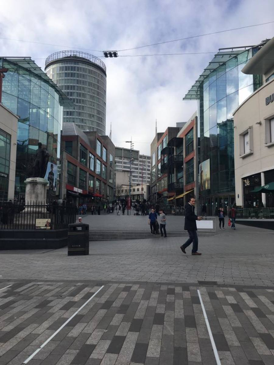 Birmingham is like a smaller and less crowded version of London.  It has a more modern and hip feel to it.
