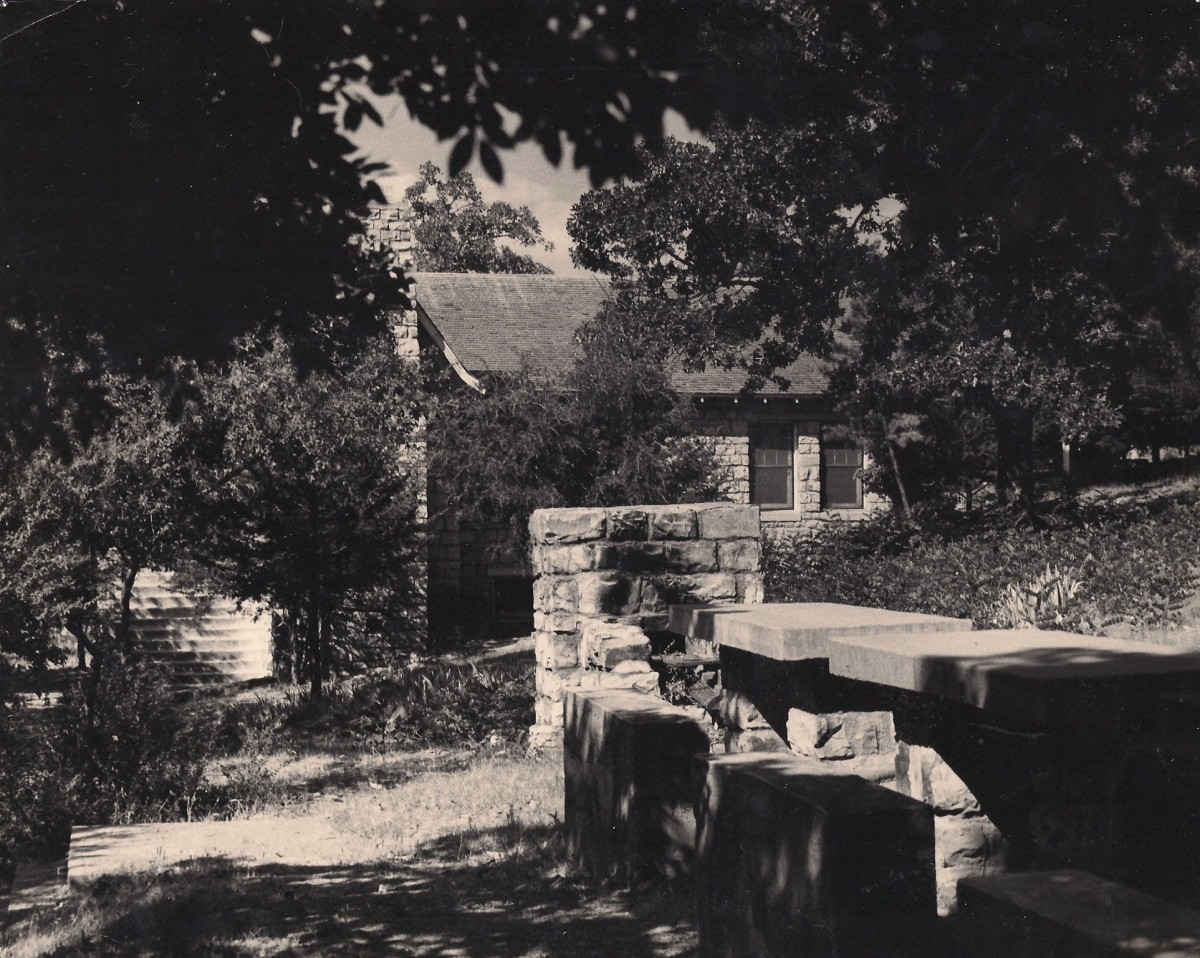 The WPA community center as it appeared in the early 1960's