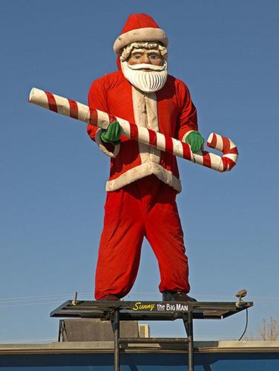 Sunny the Big Man as Santa