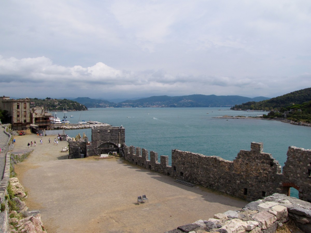 View of the Bay of Poets from the Church of San Pietro.