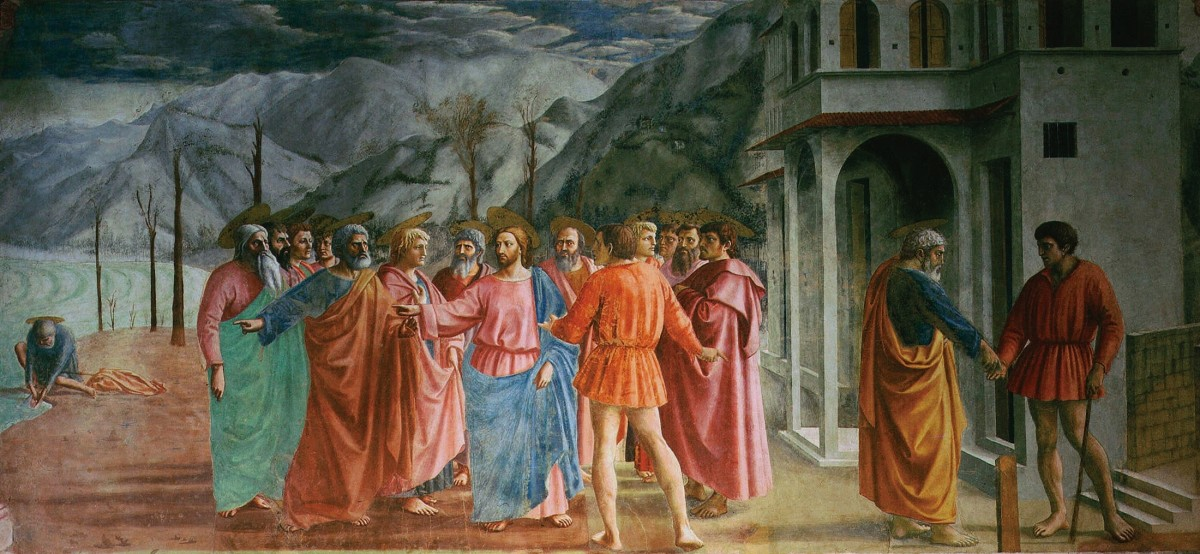 Masaccio. The Tribute Money. Brancacci Chapel.