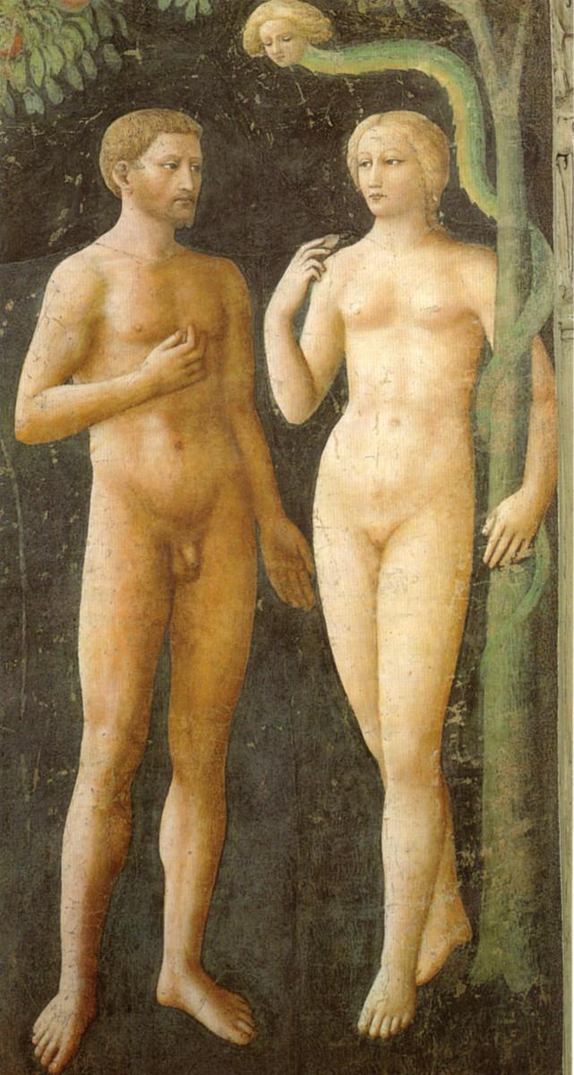 Masolino. Temptation.  Brancacci Chapel