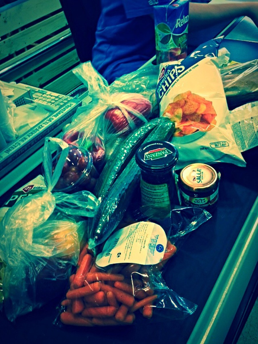 Groceries in Prague.
