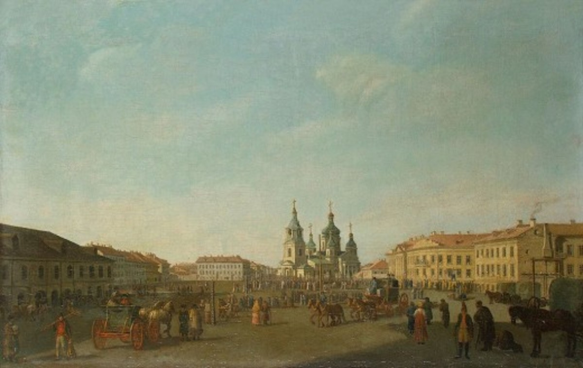 "Sennaya square is described in ""Crime and Punishment"" as the city's seedy underbelly."