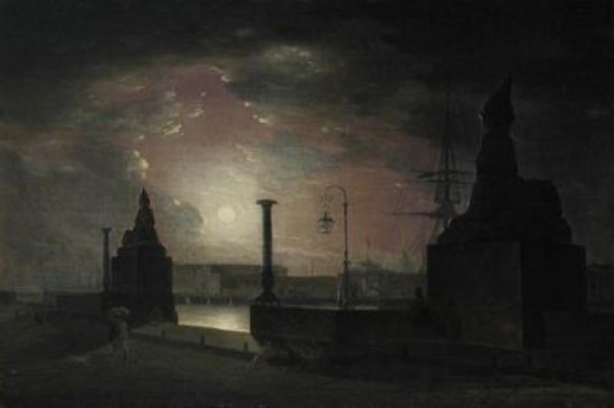 Autumn night in Petersburg. 1834 - 1835