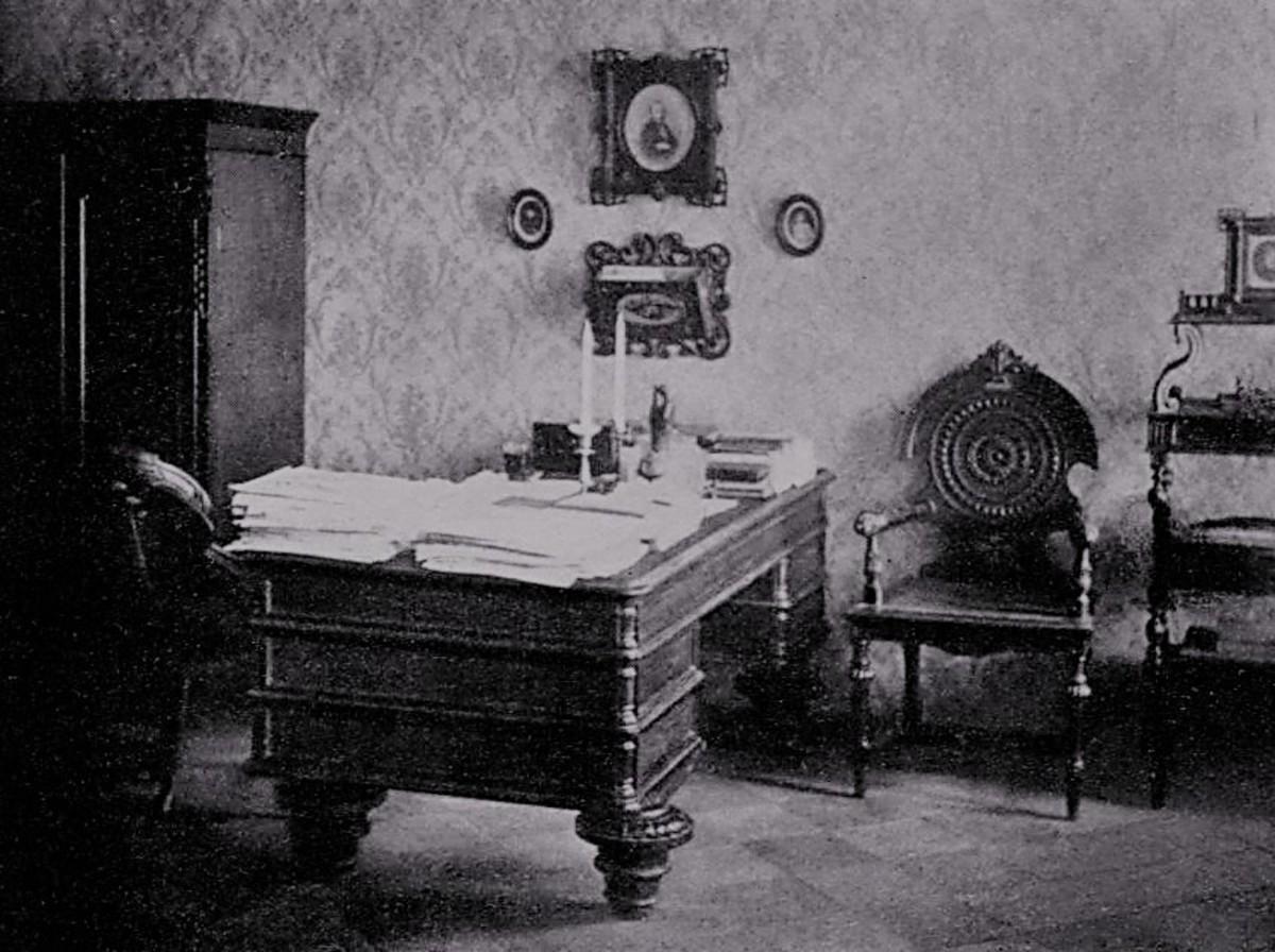 Fyodor Mikahailovich Dostoevsky's Study, 1869.