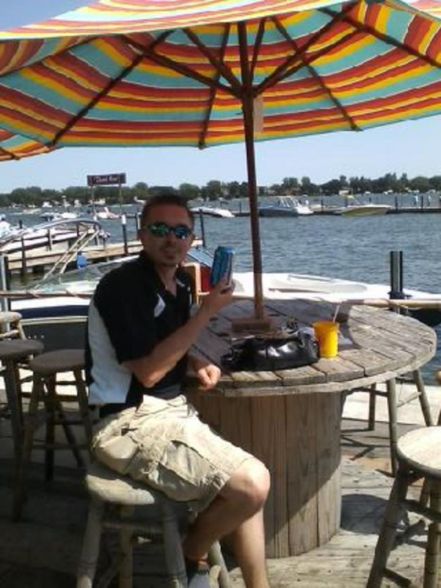 Enjoying a Cold One at the Barefoot Bar