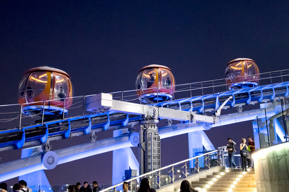 Canton Tower Bubble Tram. The most unique attraction of the tower.