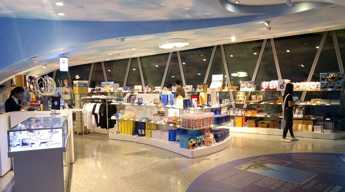 Floor 107 gift shop.