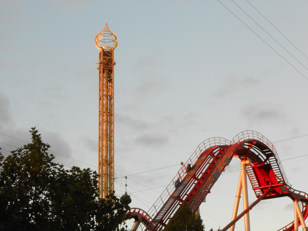 Rides at Tivoli Gardens in Copenhagen