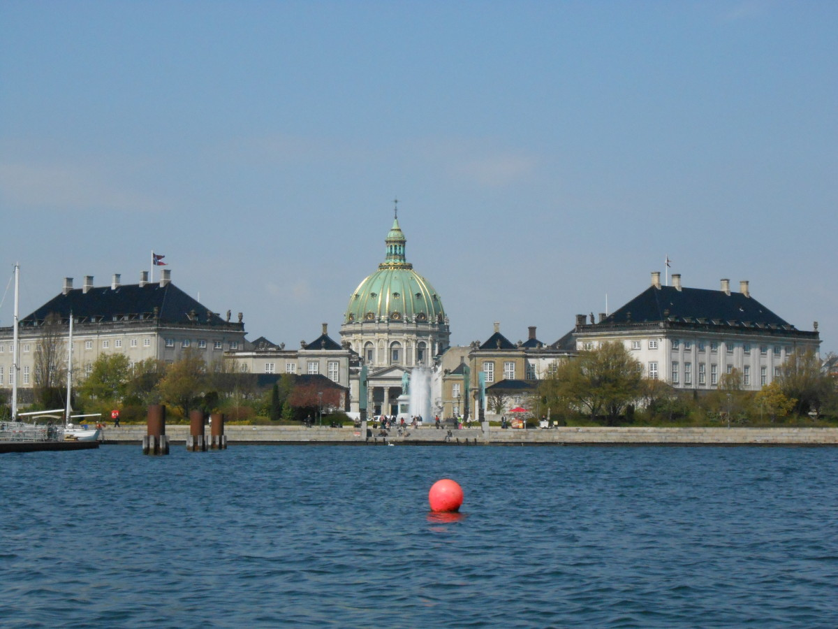 The Amalienborg Palace in Copenhagen.