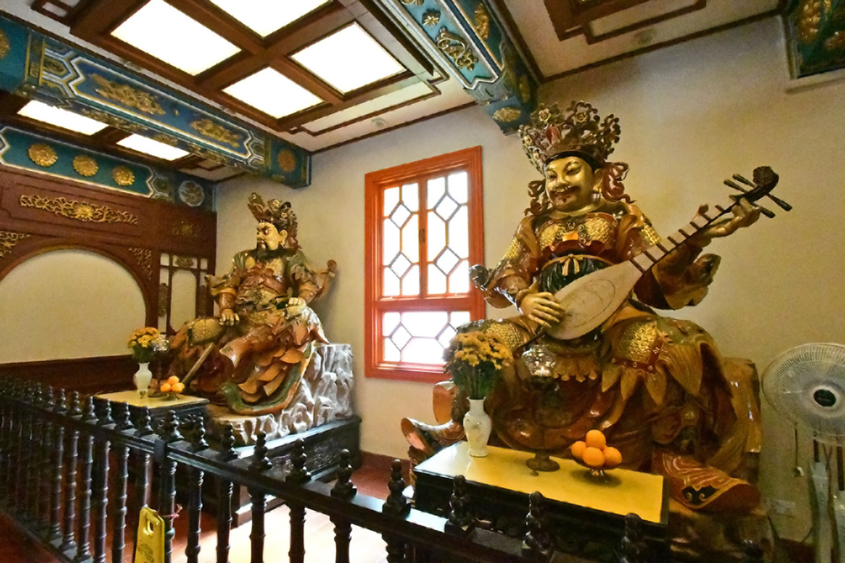 Hall of the Heavenly Kings. This is standard feature, an entrance room of sorts, for Chinese temples.
