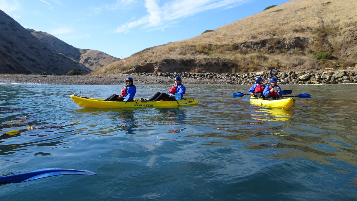 Sea kayaking with a guide is a memorable way to explore the unique geography of California's Channel Islands.