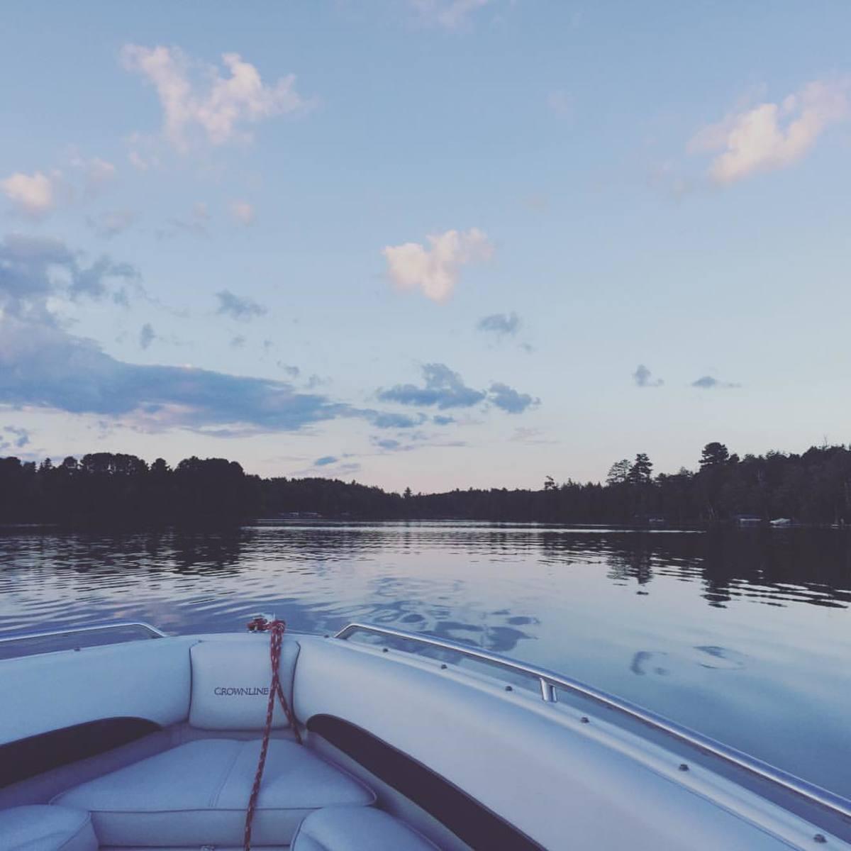 Boat cruise at dusk