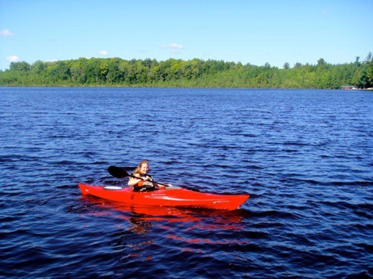 Kayaking on Crystal Lake.
