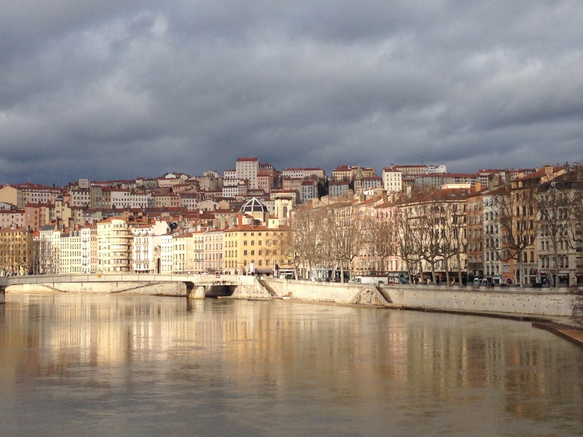 View from one of the passerelles over the Saône.