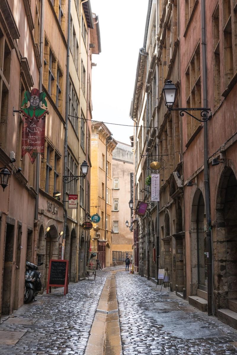The Cobblestone Streets of Vieux Lyon
