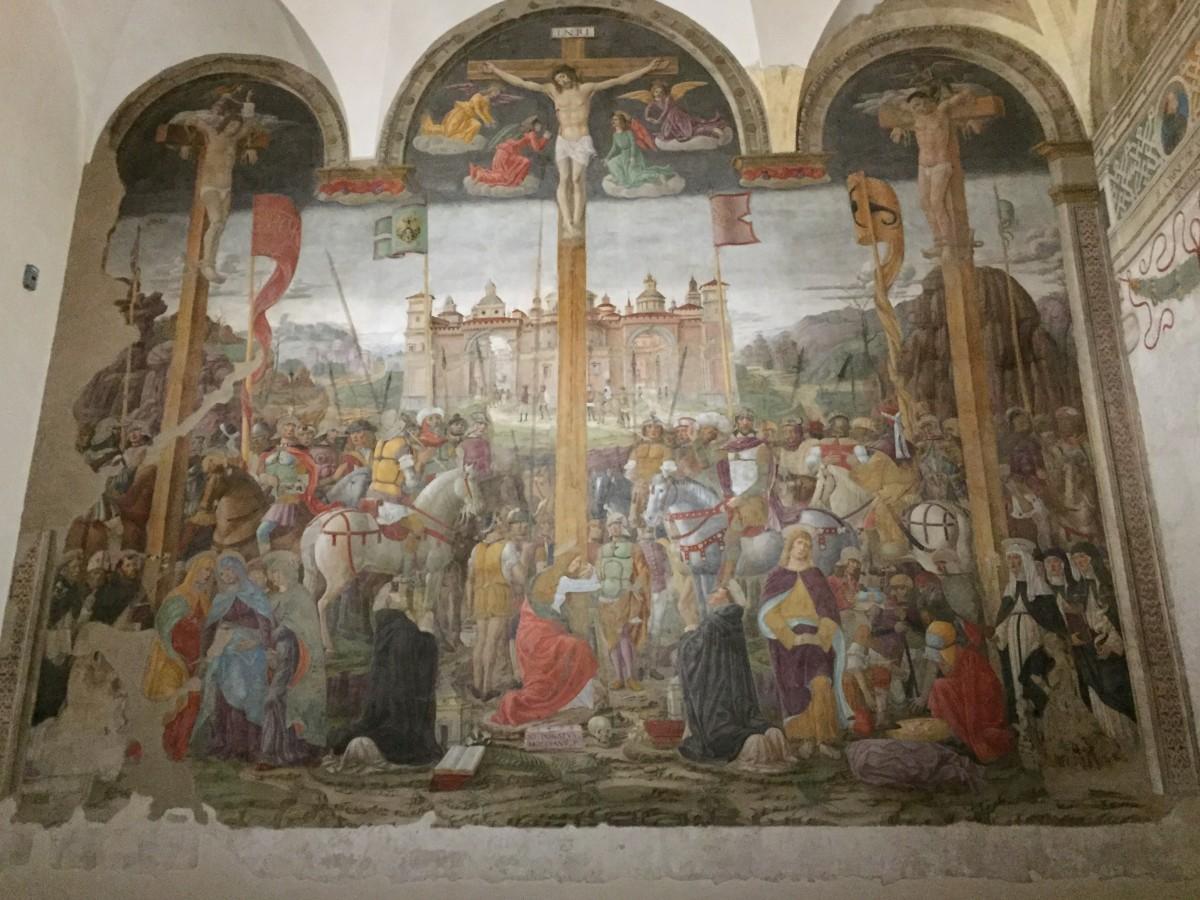 The Crucifixion by Giovanni Donato da Montorfano.