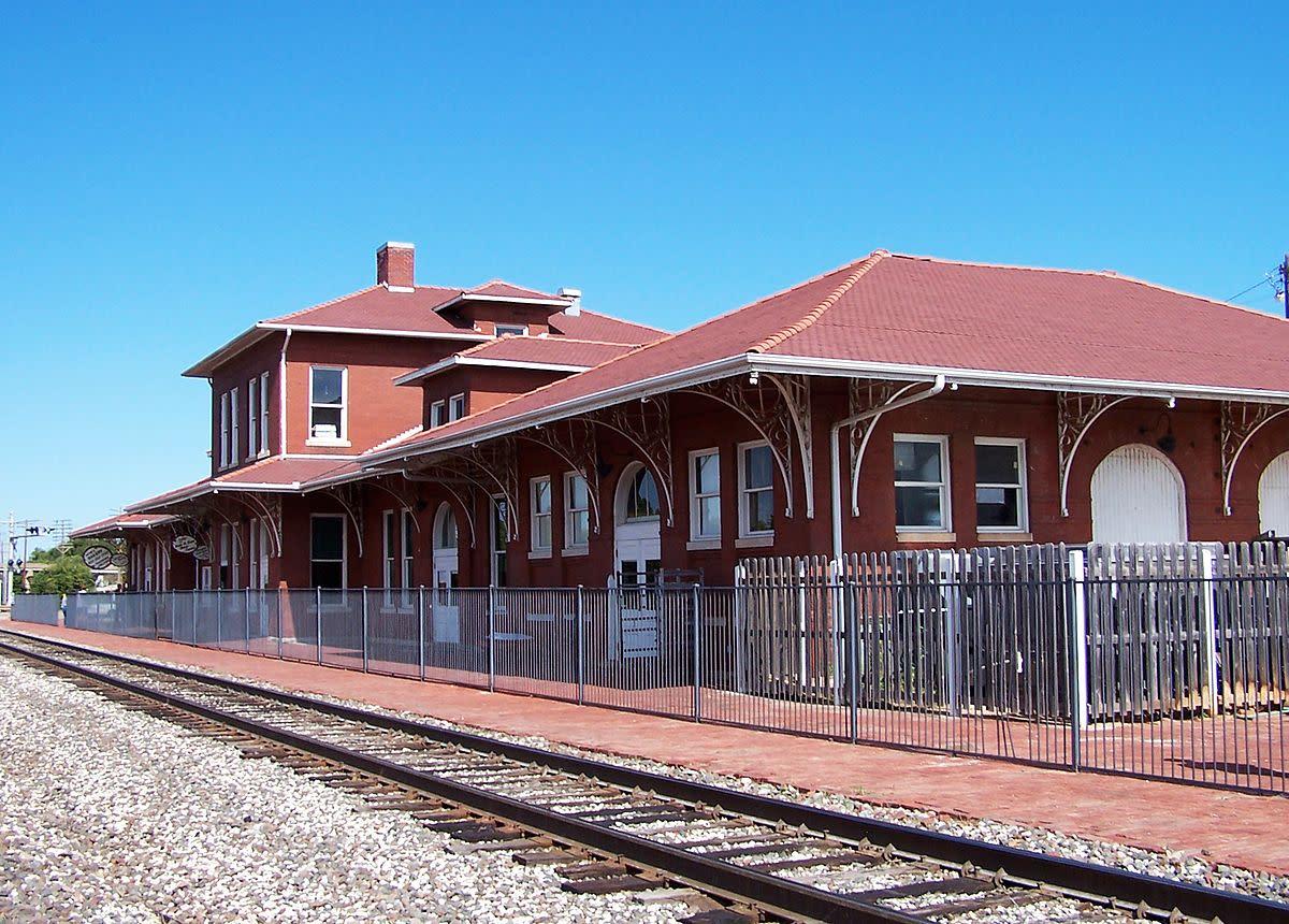 Santa Fe Railroad Depot in Guthrie