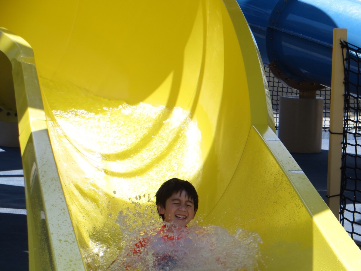 Would you leave the hotel grounds if you were having this much fun?
