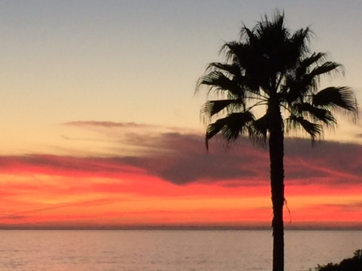 Sunsets are exquisite in Carlsbad.
