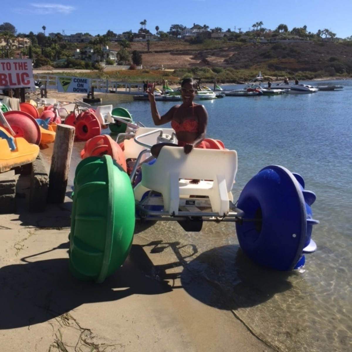 Paddle or Pedal at the Carlsbad Lagoon.