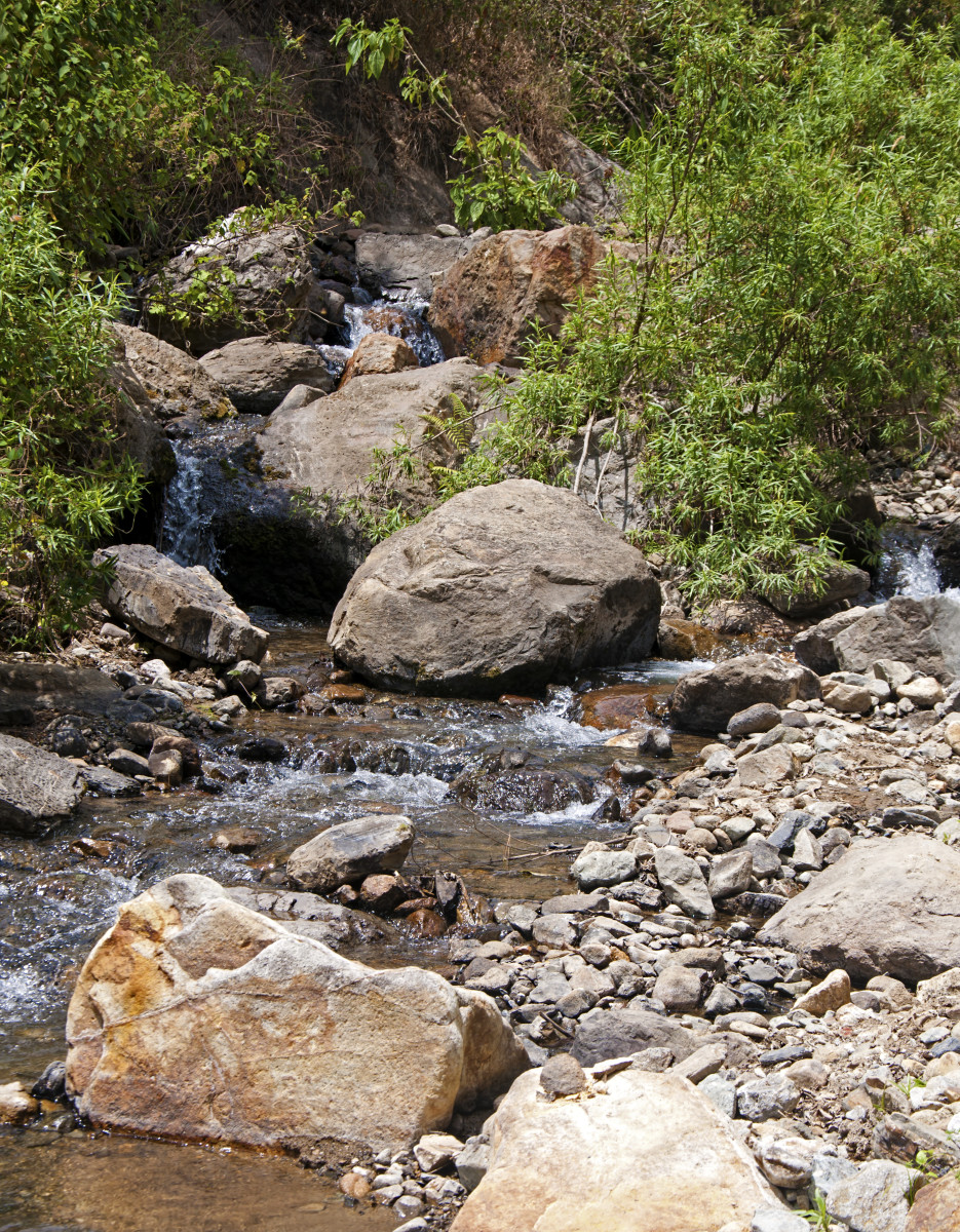 Stream above San Juancito