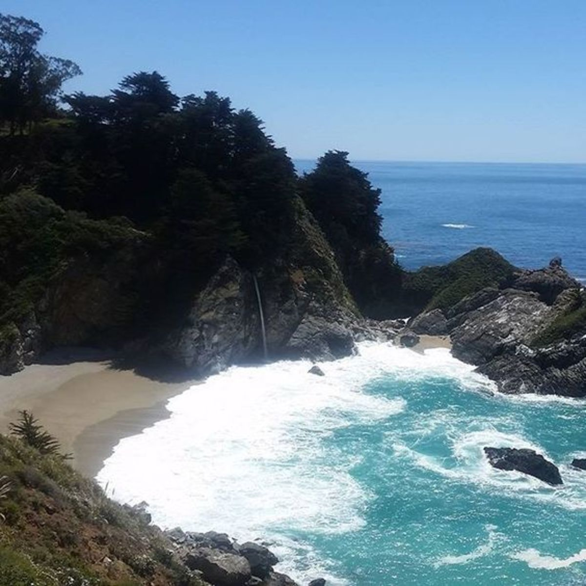 Pfeiffer Big Sur State Park is a huge preserve with more than 1,000 acres of coastal wilderness.