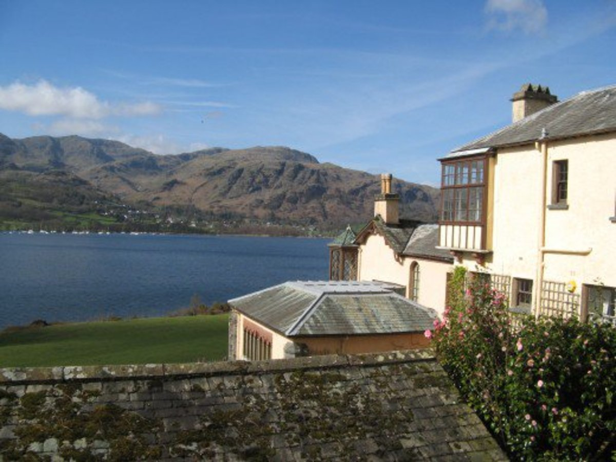 A view of Coniston Water from Brantwood House
