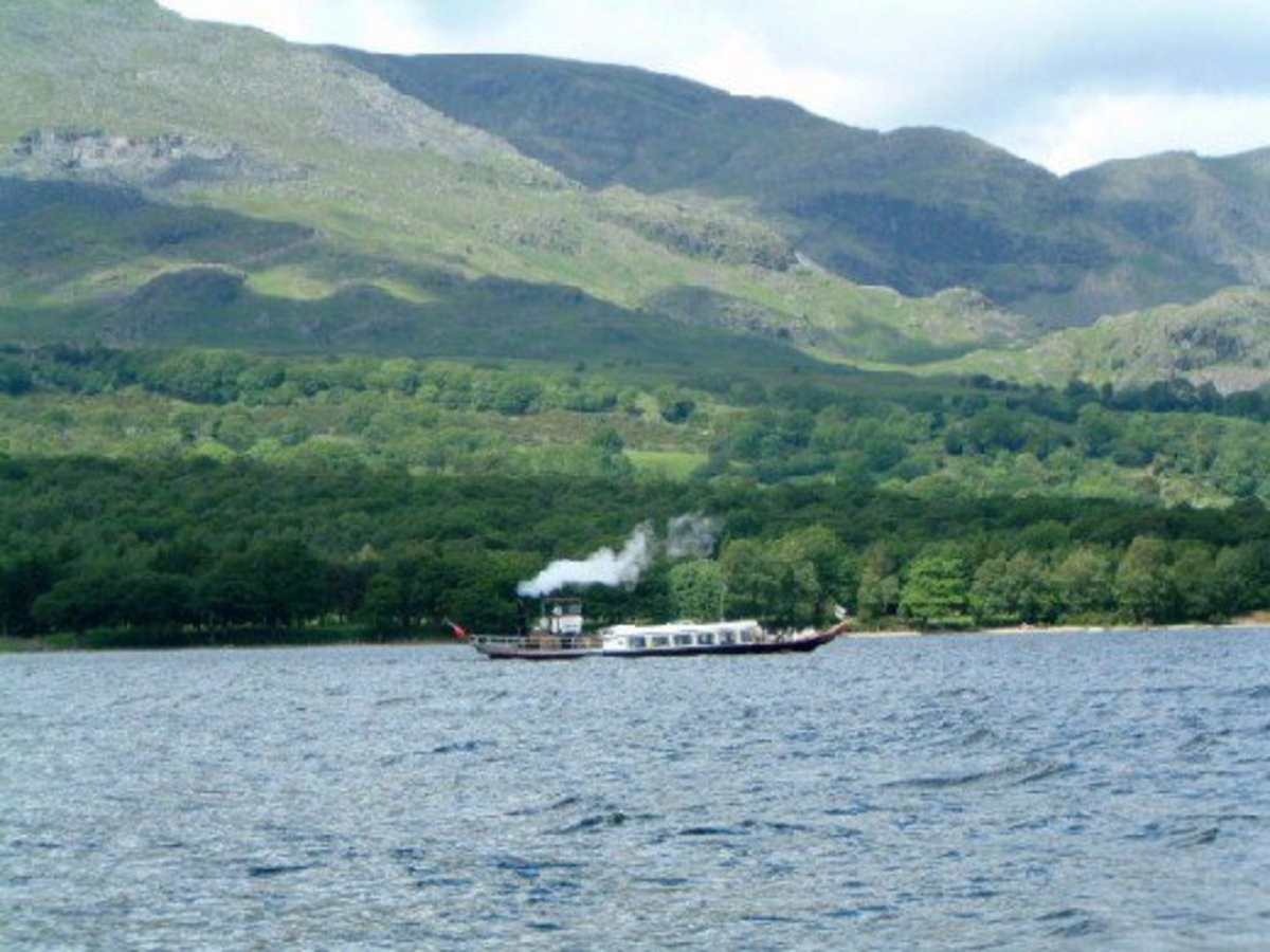The steam ferry on Coniston Water