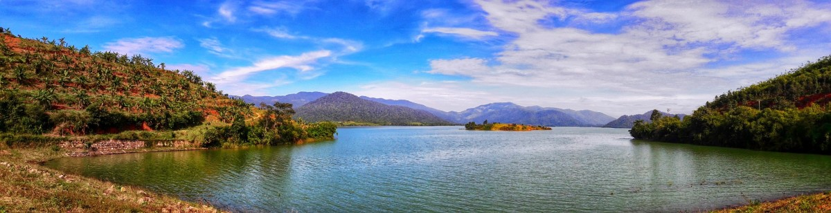 A Panoramic View of the Ham Thuan Hydropower Dam