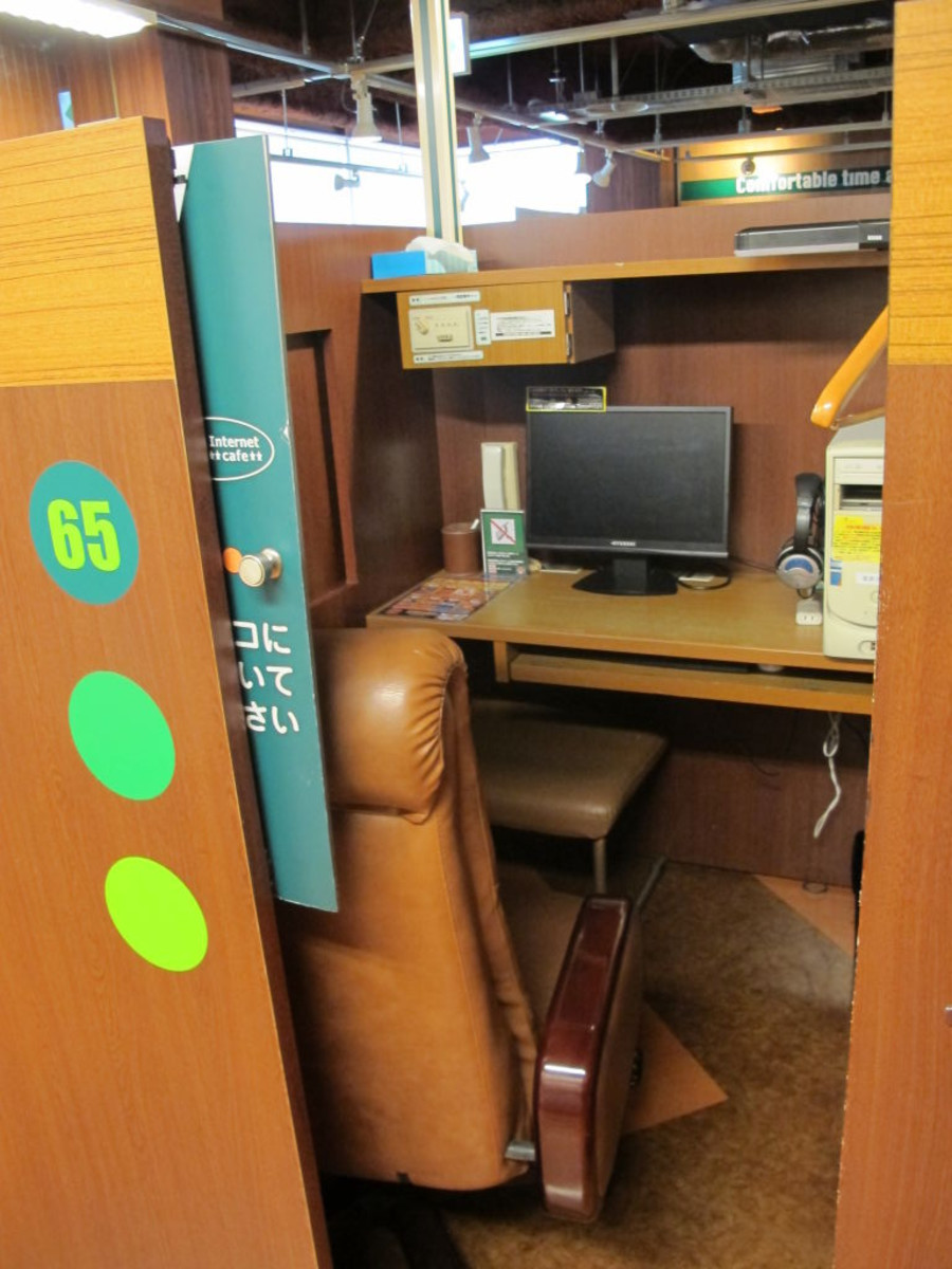 Inside a cubicle