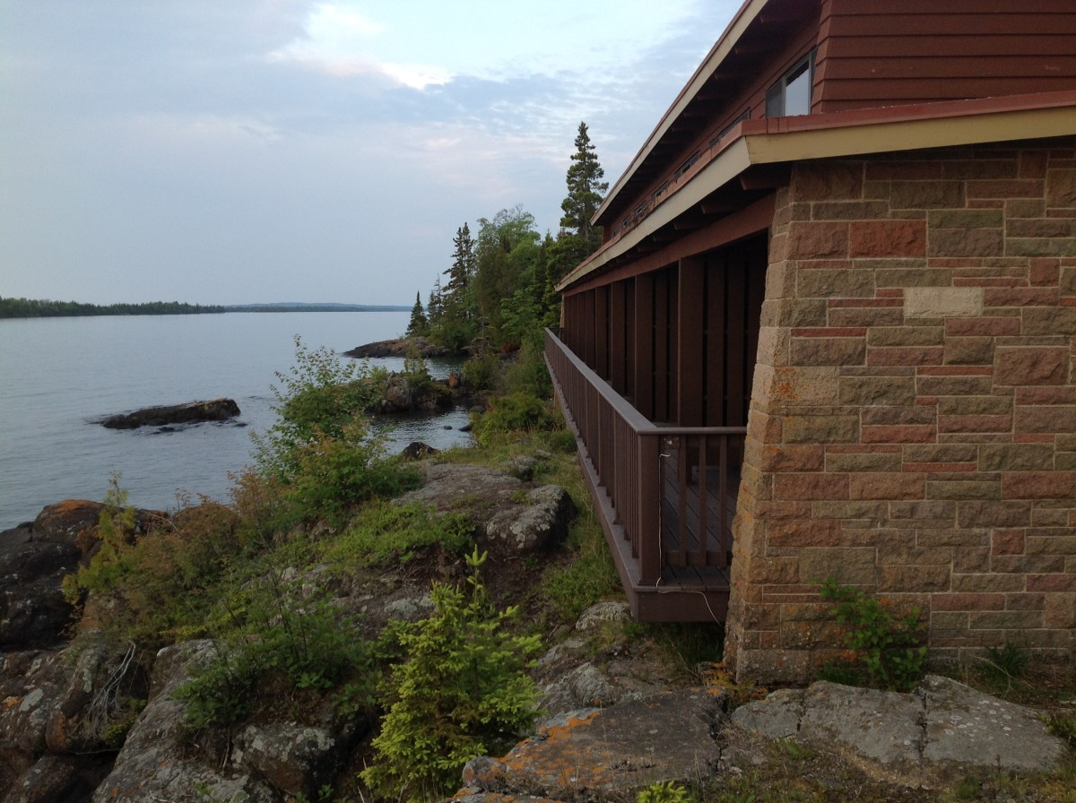 View from Rock Harbor Lodge