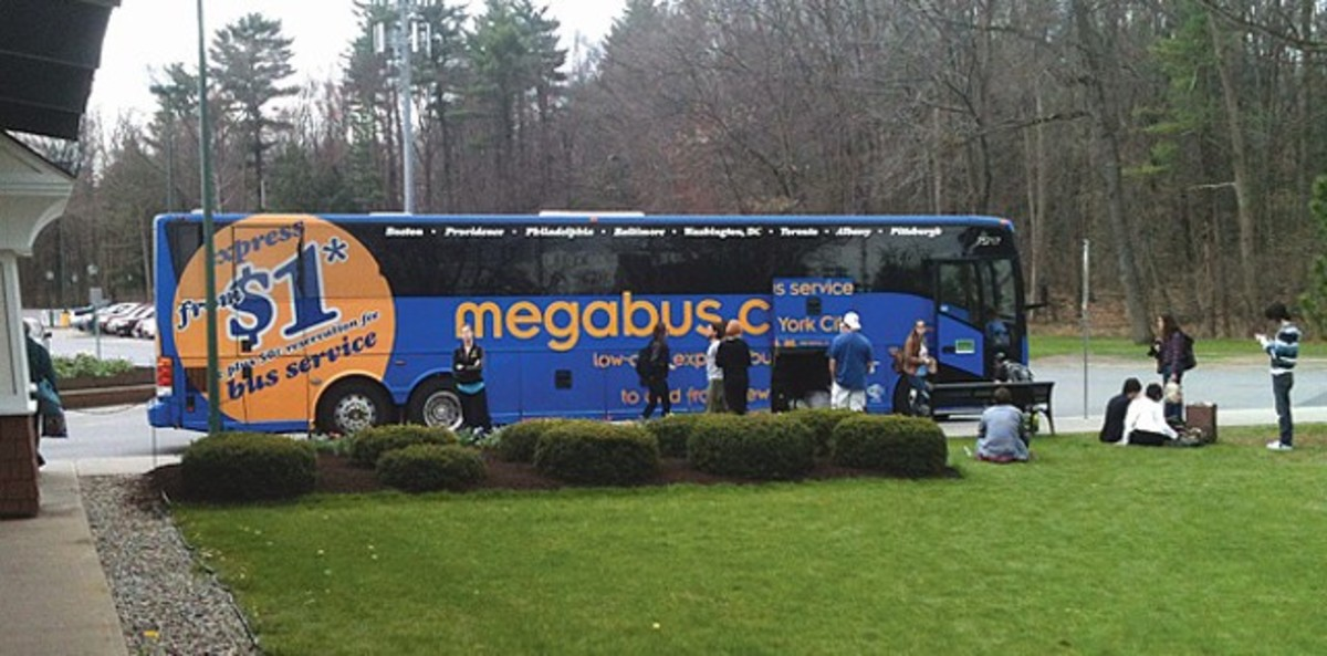 It's important to pay attention to the time at meal/bathroom breaks on your Megabus trip so you can be back on the bus before it leaves.