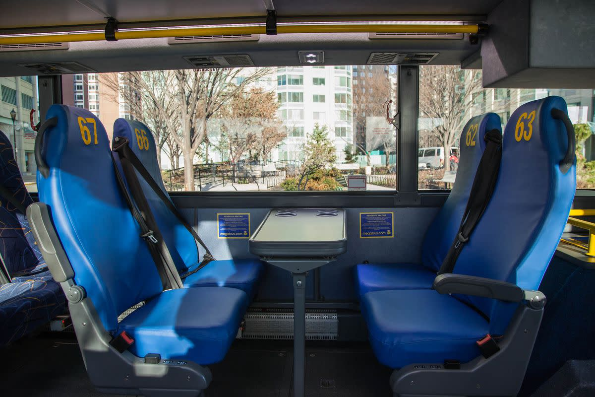 Megabus allows you to reserve select seats starting at only $1 extra per ticket!
