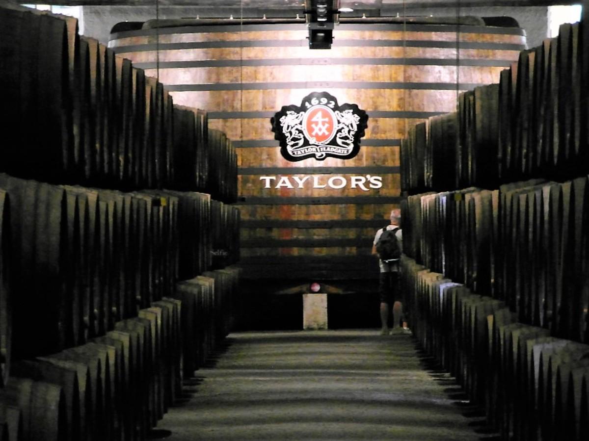 Port barrels at Taylor's port house.