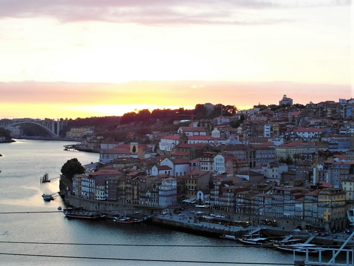 Sunset in Porto.