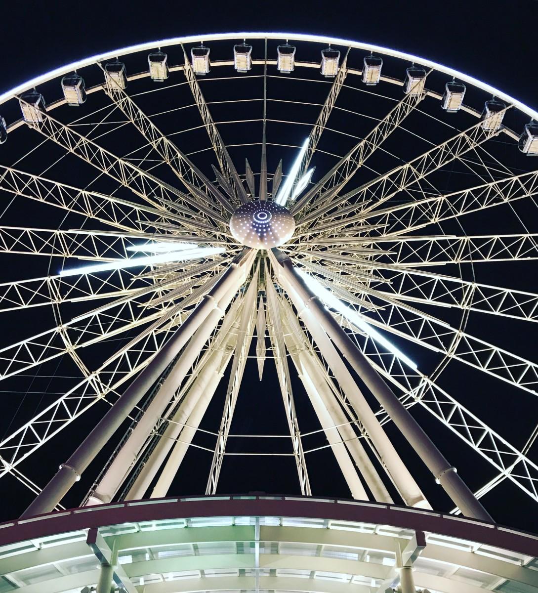 The Niagara SkyWheel.  What a ride, especially at night!
