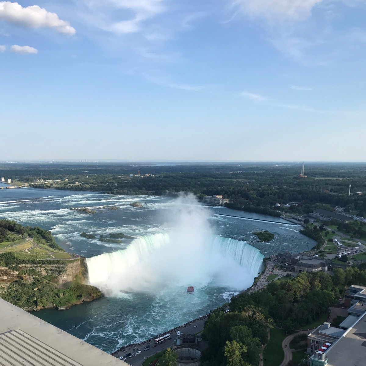 A view of Horseshoe Falls from the Skylon Tower.