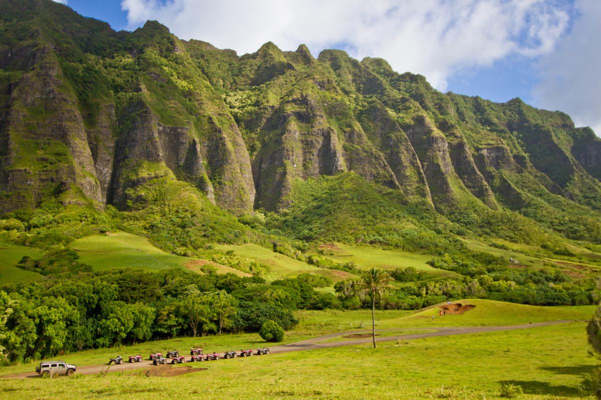Kualoa Ranch and the Ko'olau Range