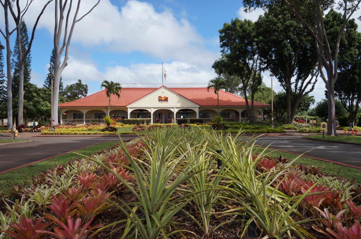 Dole Pineapple Plantation entranceway.