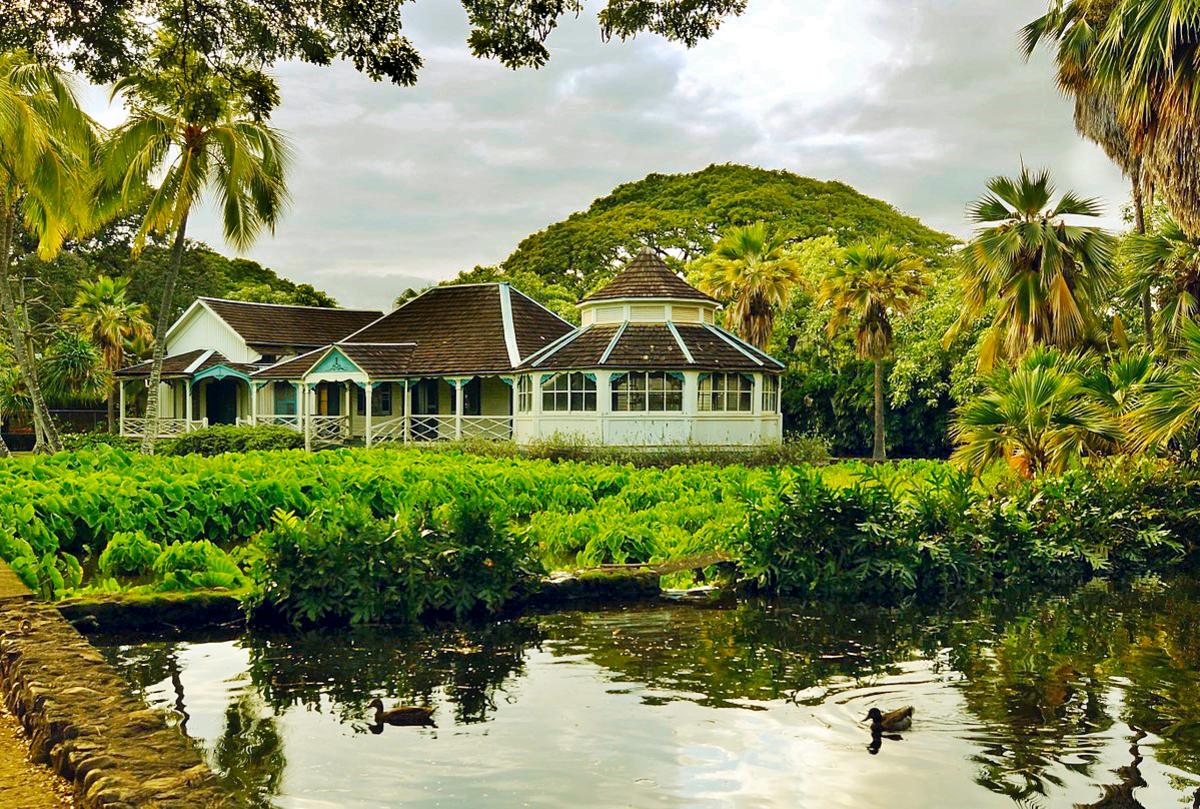 King Kamehameha V's summer cottage at Moanalua Gardens.