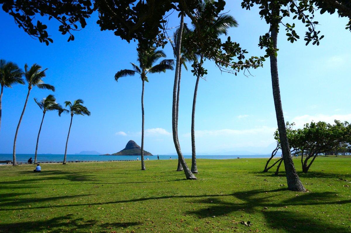 Kualoa Beach Park and Chinaman's Hat island