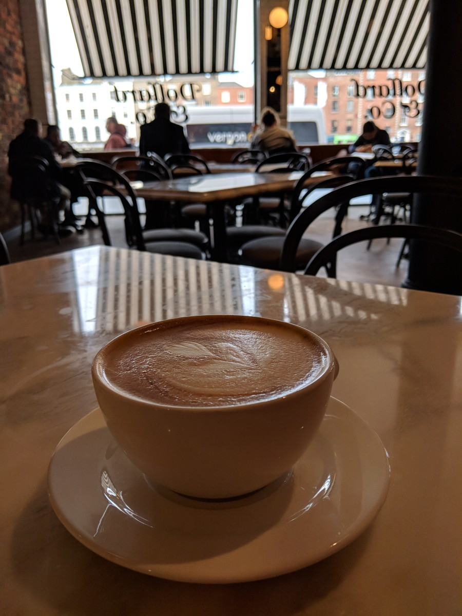 I got my coffee fix with a cappucino at Dollard & Co.