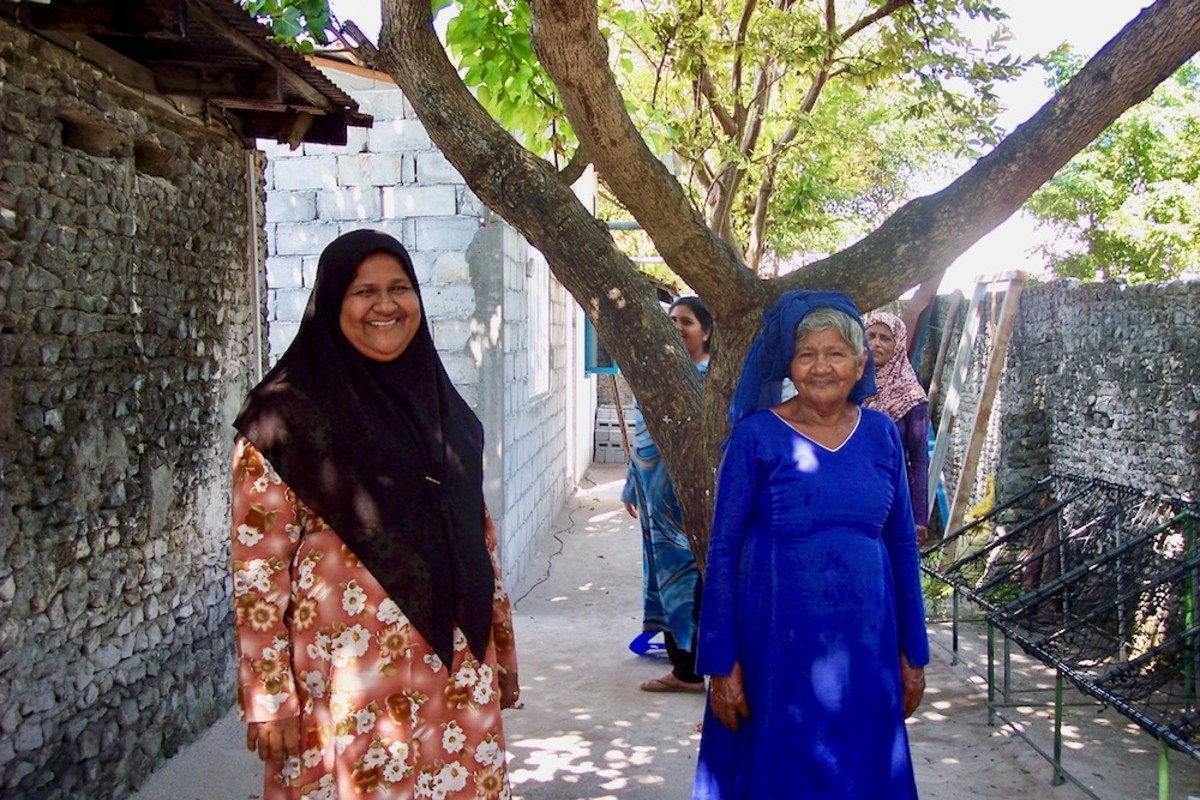 Residents of Malé, an Inhabited Island in the Maldives