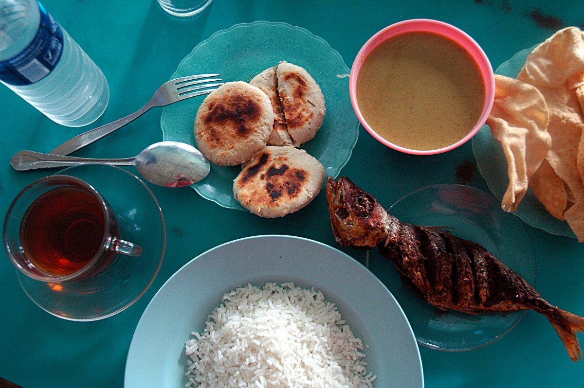 Типичная еда на Мальдивах
