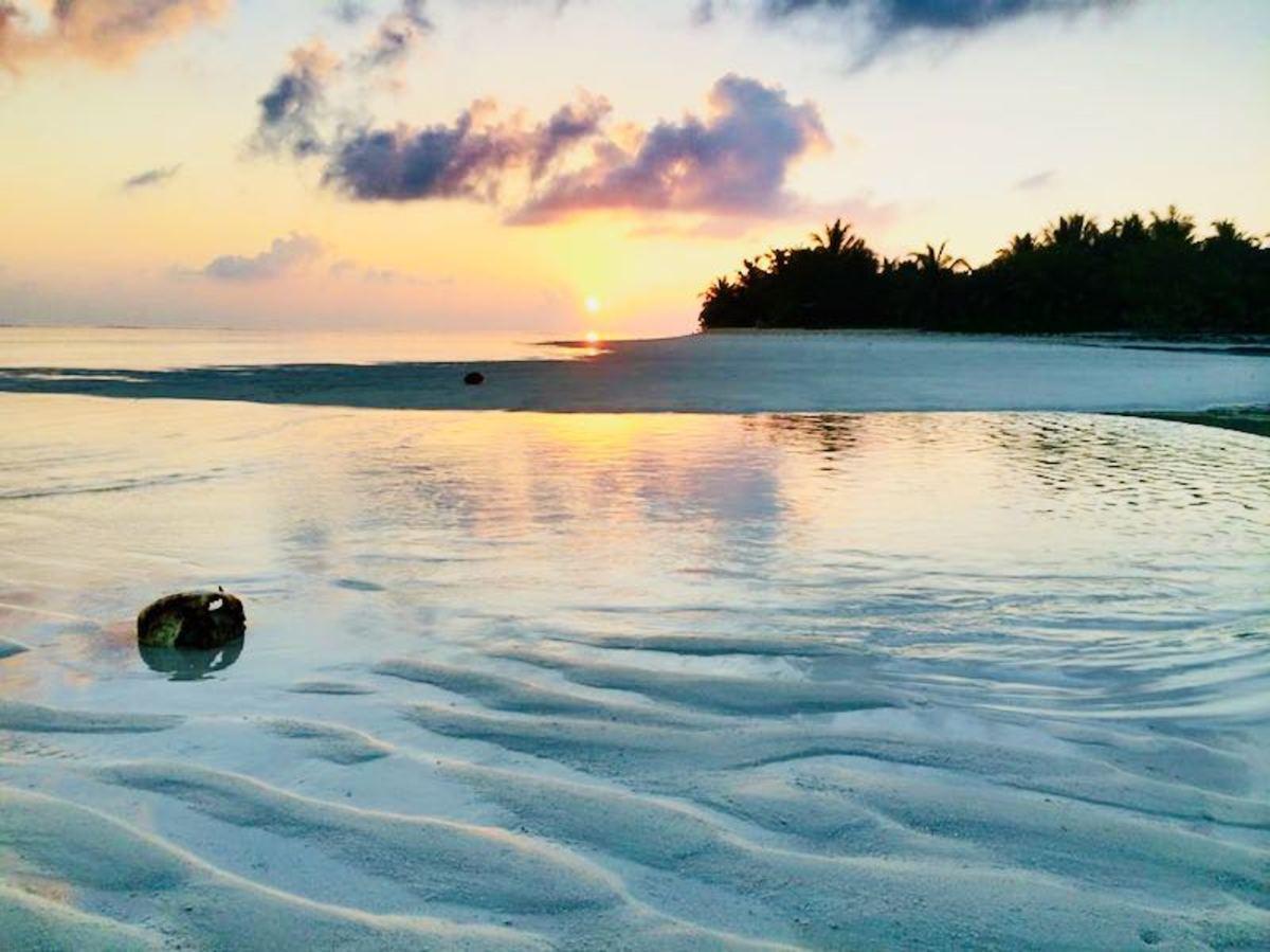 Мальдивы Закат